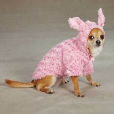 East Side Collection PINK Hooded w/ Ears Dog  BUNNY COAT Jacket TEACUP-LARGE