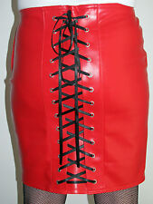 Sexy tight red faux leather wiggle burlesque pencil skirt all sizes