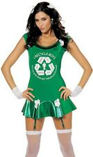 Sexy Adult Go Green Recycle Eco Girl Halloween Costume