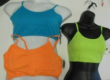 NWT Camisole Bra top  Lined Bright Colors Cotton Spandex Sportsbra girls Ladies