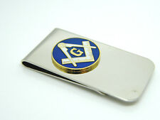 MASONIC BADGE OR G SQUARE AND COMPASS MONEY CLIP IN FREE GIFT POUCH OPTIONS