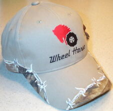 Barbed Wire Wheel Horse Embroidered Solid Hat (4 types)
