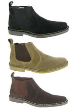 New Mens Desert Ankle Boots Suede Leather Chelsea Dealer Taupe Black Size 6-12