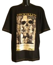 Mens Big Size Skull T Shirt - 2XL 3XL 4XL 5XL 6XL - 'LOST CITY ON FIRE TOUR'
