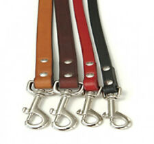 """Auburn Leathercrafters QUALITY Leather """"Town Leads"""" Dog Leashes 2 Lengths"""