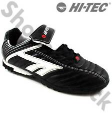 MENS HI-TEC ASTRO TURF FOOTBALL UK7-10 EU41-44 BOOTS BLACK WITH WHITE AND RED