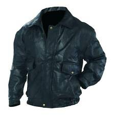 New Mens Black Napoline Genuine Leather Bomber Jacket Coat Biker Motorcycle