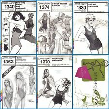 Ladies' Swimsuit Sewing Pattern Misses Summer Bathing Suit Stretch & Sew