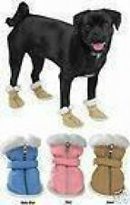 Casual Canine Sherpa Faux Suede Dog Boots   CLEARANCE! LIMITED SIZES