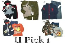 T SHIRT PANTS 2 3 PIECE SET OUTFIT JACKET COAT TEE TOP BOTTOM JEANS LITTLE BOYS