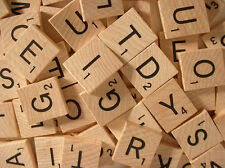 ORIGINAL Wooden Scrabble Game Tiles Letters Numbers *3Tile Minimum Free Shipping
