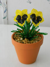 French beaded flowers handmade potted Pansies Pansy **NEW Added**
