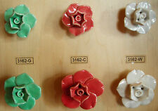 Ceramic Flower Knob 2 sizes fraction of Pottery Barn cost Cabinet Drawer Pull