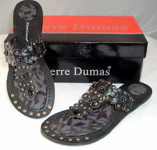 """Woman's Black Sandals traction tread by Pierre Dumas """"Hayden"""" NEW Free Shipping"""