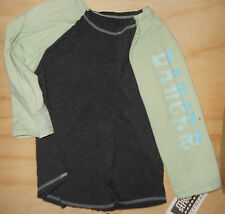 NWT Raglan Dance Sports Top  Charcoal Gr Child Ladies Sizes Dancer Cotton Spndx