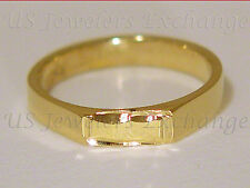 NEW 14K HEAVY GOLD GP PRECIOUS CHILD BAND RING ALL SIZES FAST FREE SHIPPING #681