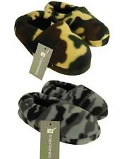 Boys / Childrens Camo / Camouflage Fleece Slippers ~ UK 9 to 3