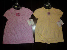 NWT Girls 2pc Minnie Mouse Pink Yellow Dress Diaper Cover Set 6/9m