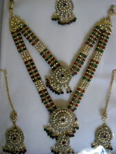 INDIAN BOLLYWOOD WEDDING BELLY DANCE PARTY MAHARANI ROYAL KUNDAN JEWELLERY 3 PC