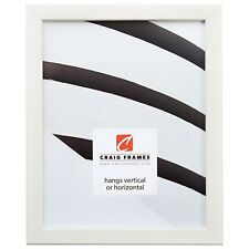 "Craig Frames Colori, 0.8"" Modern White Picture Frame"