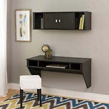 Wall Mounted Floating Computer Desk and Hutch w/ Storage NEW