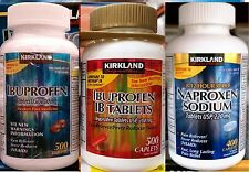 Kirkland Signature Ibuprofen or Naproxen Pain Reliever Fever Reducer ~ One Bottl