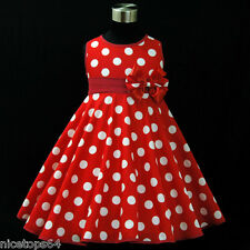 R3121 Toddler Girl Kid Red Party Flower Girls Dress Outfit SZ 2,3,4,5,6,7,8,9,10