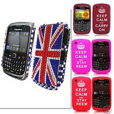 Union Jack Flag Diamond Rhinestone Case Cover For BlackBerry Curve 8520 3G 9300