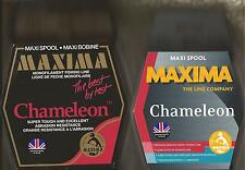 MAXIMA CHAMELEON 600M (660yds) 'MAXI' SPOOLS. Breaking strains from 2½lb - 25lb.