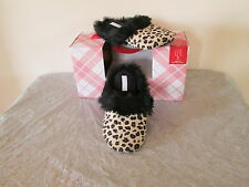 NEW $24 CHARTER CLUB FAUX FUR IN/OUTDOOR CLOG SLIPPERS LEOPARD SM-- LG- X-LG