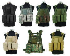 Airsoft Tactical Military Swat Police Molle Plate Carrier Adjustable Combat Vest