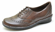 Clarks Bendables NIKKI TOWN Brown Classic Oxfords Shoes Women's - NEW - 38523