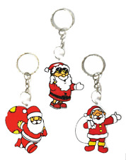 Santa Claus / Father Christmas - Xmas Keyring / Keychain (All Types)