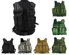 Airsoft Tactical Military SWAT Police Assault Molle Vest with Pistol Holster