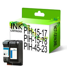 Remanufactured Generic Ink Cartridges Replace For Printer 15 & 17