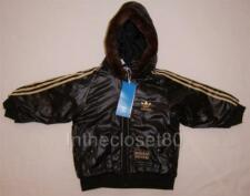 NEW ADIDAS CHILE 62 BOYS GIRLS NYLON BOMBER PADDED WINTER JACKET BLACK/GOLD