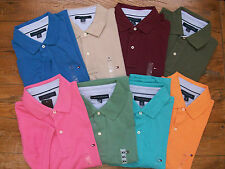 New Authentic NWT TOMMY HILFIGER SS Mens Polo Golf Shirt Solid