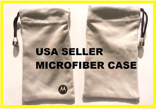 NEW Motorola SYN2282A Microfiber Pouch Case Gray Drawstring Bluetooth Headset