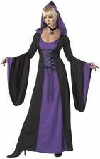 Womens Purple Robe Medieval Vampire Halloween Costume