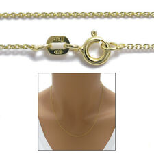14K Gold over Sterling Silver Rolo Chain Necklace 0.7mm 020 gauge