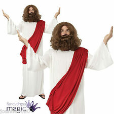 """MENS ADULT RELIGIOUS JESUS TOGA FANCY DRESS CHRISTMAS COSTUME UP TO XL XXL 52"""""""