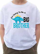 I'm going to be a Big Brother Shirt with little blue dinosaur dino rwaar T-shirt