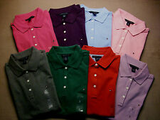 NEW Authentic TOMMY HILFIGER Womens SS Top Shirt Polo Cotton Stretch