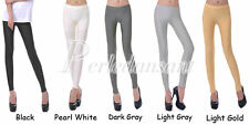 Femme Leggings Pantalons Stretch Collants Jambières Bonbons Couleur Fluo PEBD
