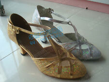 New Ladies Ballroom Latin Dance Salsa Shoes Tango Rumba Dance Shoes SZ5-8 2Color