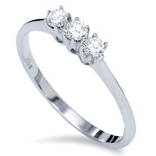 .20CT 3-Stone Diamond Promise Anniversary Ring 14K White Gold