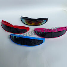 Cyclops Sunglasses Sunnies Shades Space Alien Shield Mirror/Dark Costume Party