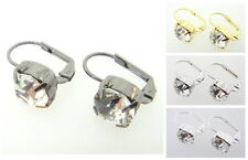 Austrian Crystal Earrings 8.5mm Crystal 3 Pairs - Choose Your Finish