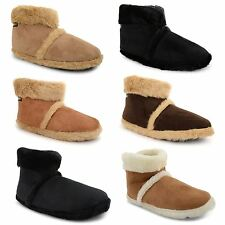 New Mens Coolers Dunlop Microsuede Snugg Furry Slippers Ankle Boots Size UK 7-12