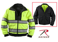 Reversible 3 Season Hi-Visibility Reflective Yellow Police Security Jacket Coat
